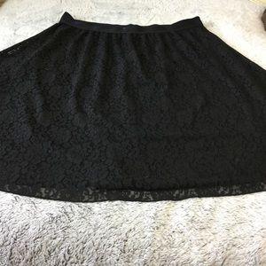 LuLaRoe Skirts - Lularoe black lace Lola skirt 2XL